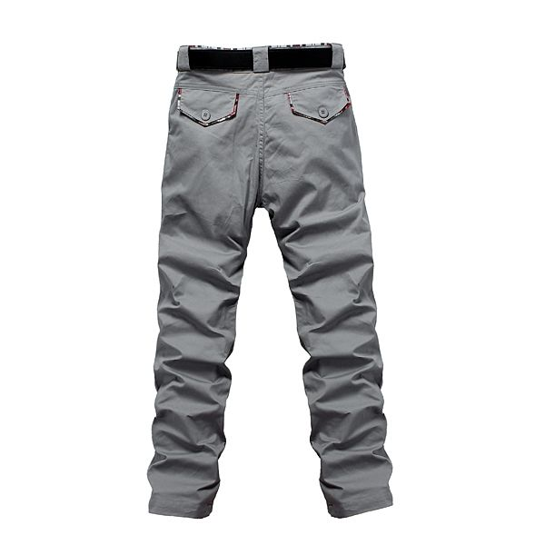 Fashionable Casual Men's Designed Straight Slim Fit Long Pants