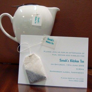Kitchen Tea Bag Invitation