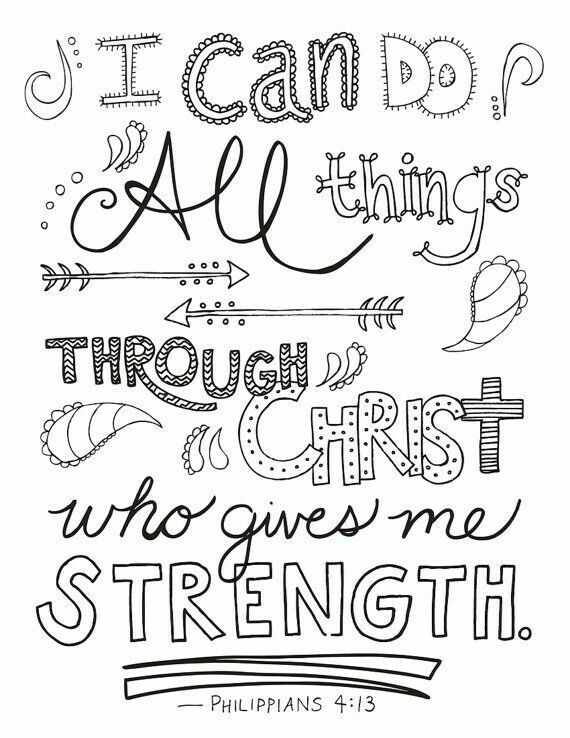 Philippians 4 13 Bible Verse Coloring Page Bible Coloring Pages