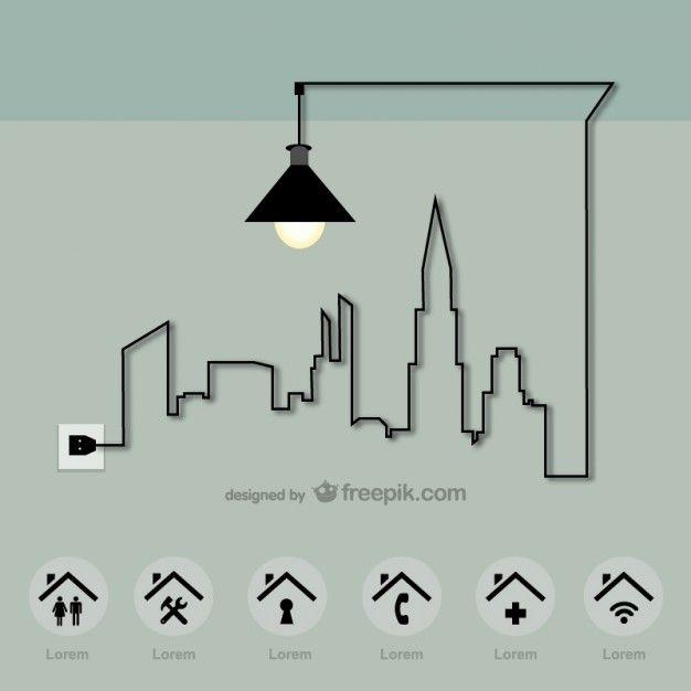 Vector de energía en la ciudad                                                                                                                                                                                 Más