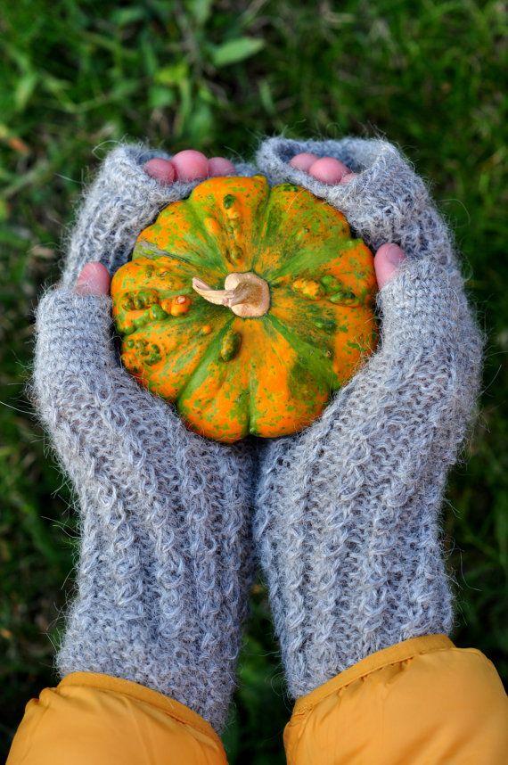 Перчатки без пальцев, шерсть Варежки перчатки, рождественские подарки, серый Fingerless Рукавицы, зимние варежки, согрева рук, теплые варежки, вязаные варежки