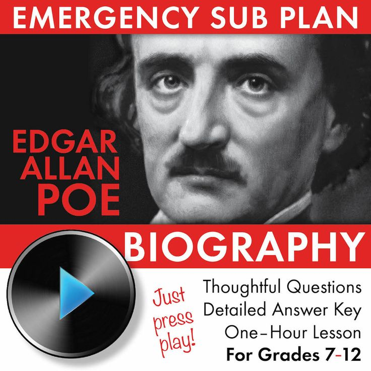 a biography of the life and literary works of edgar allan poe Biography of poe american author, poet and literary critic edgar allen poe, best known for his pioneering in the fields of short stories and detective fiction, was born on january 19, 1809 in boston, massechussets.