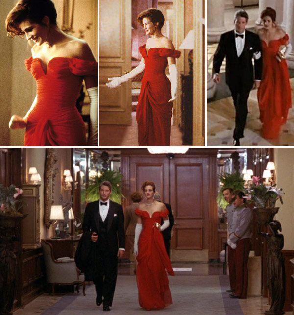 vestido vermelho julia roberts uma linda mulher