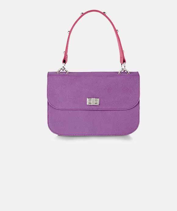Leather Stud Trim Handbag #kaleidoscope #trend