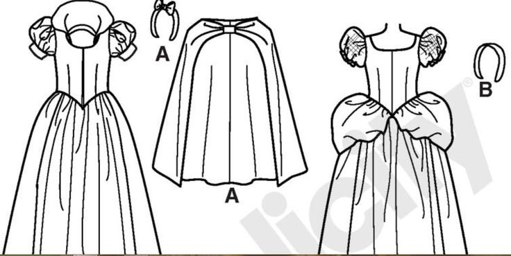 A: Snow White Outline B: Cinderella Outline
