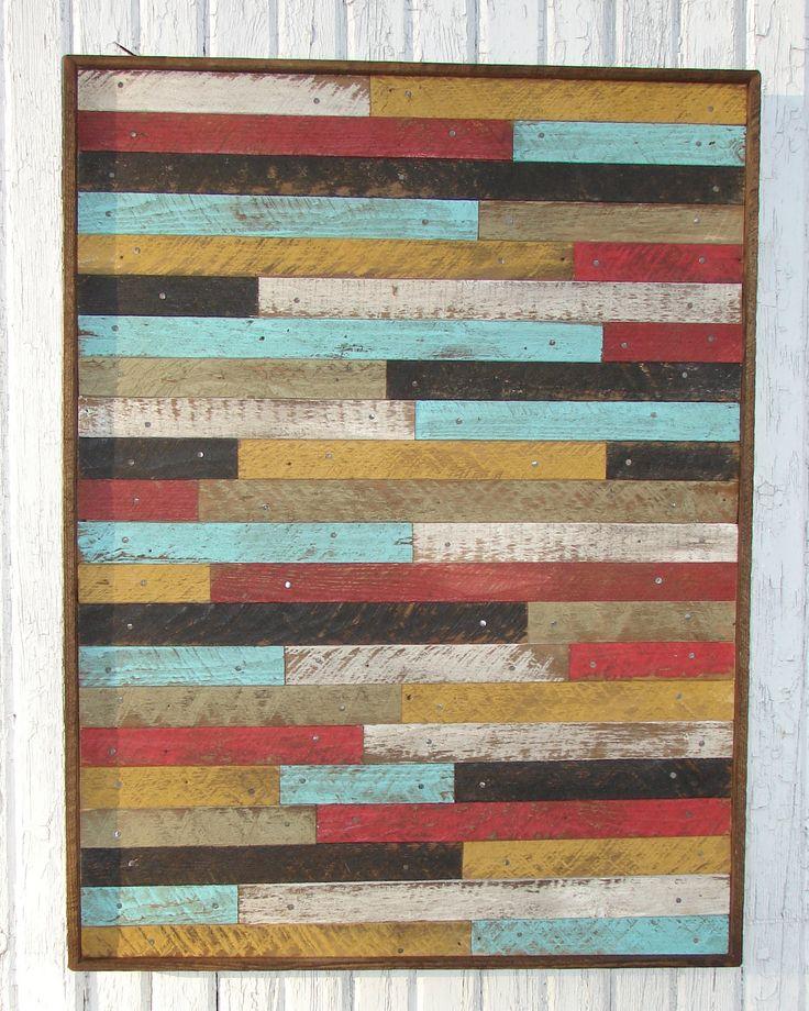 Large POTTERY BARN style/inspired RECLAIMED wood lathe wall art .. $135.00, via Etsy.