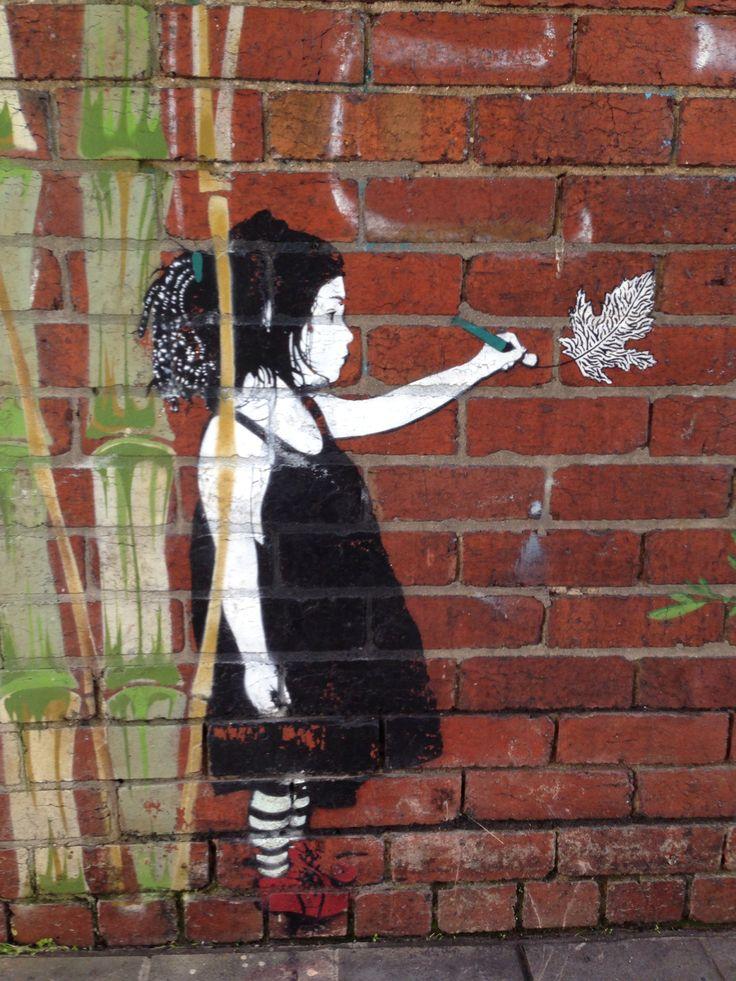 Melbourne Street art Richmond artist: be free