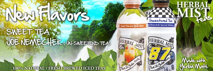 We have 2 great new flavors! Sweet Tea and Special Edition Joe Nemechek Unsweetened Tea