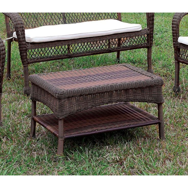 Outdoor Furniture of America Geneve Patio Wicker Coffee Table - IDF-OT1811-T - 25+ Best Ideas About Wicker Coffee Table On Pinterest Grey
