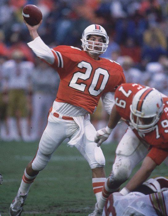 Bernie Kosar #20 Miami Hurricanes QB At the helm of their first National Championship 1984 beating U. of Nebraska.