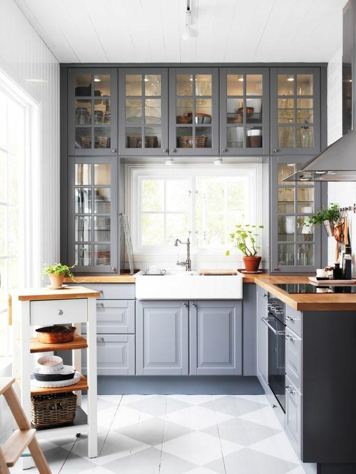Ides couleur cuisine meuble cuisine orange meuble cuisine for Quelle peinture pour une cuisine grise
