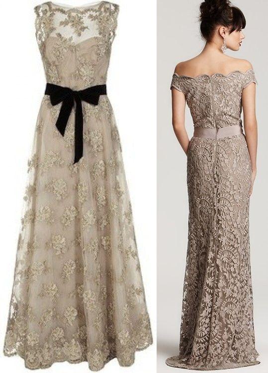 Mais duas opções de vestido de festa com renda, gostei bastante do primeiro,só a cor que é arriscada. Se fosse numa cor mais forte (e mais d...