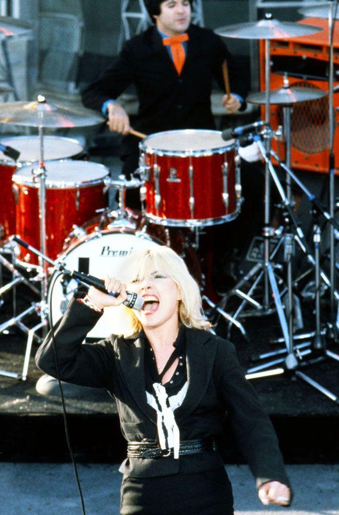 """""""Debbie Harry and drummer Clem Burke of Blondie c.1979 """""""