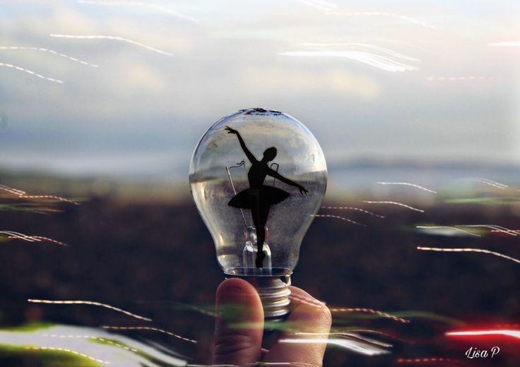 Ballet Dancer silhouette lightbulb