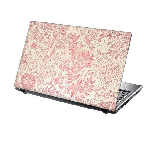 Laptop Skin Vinyl Sticker Pale Pink Garden