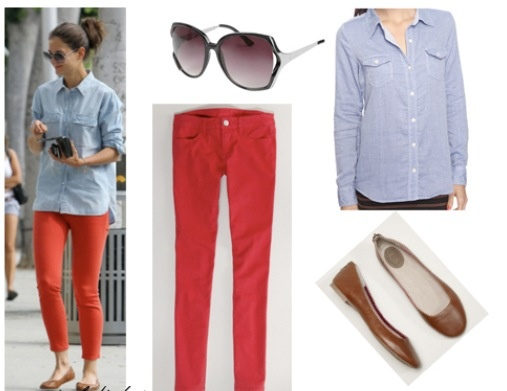 Red pant outfit