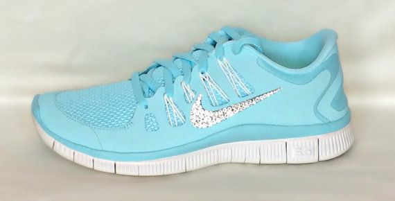 nike factory outlet Nike Free Run shoes Glacier Ice Night Factor Summit  White with Swarovski crystals nike shoes outlet ab671eb91f