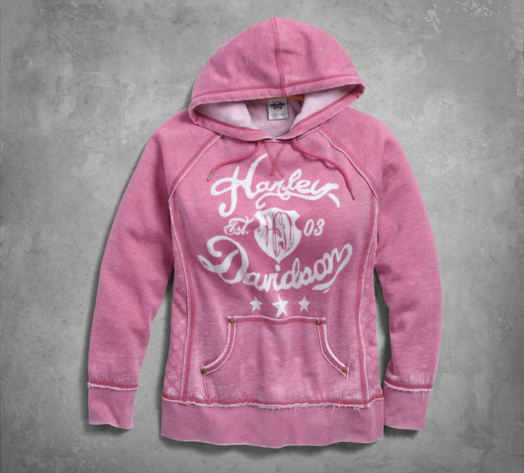 From lazy morning lounge wear to lightweight chill buster, this women's hoodie can handle it. | Harley-Davidson Women's Quilted Side Panel Pullover