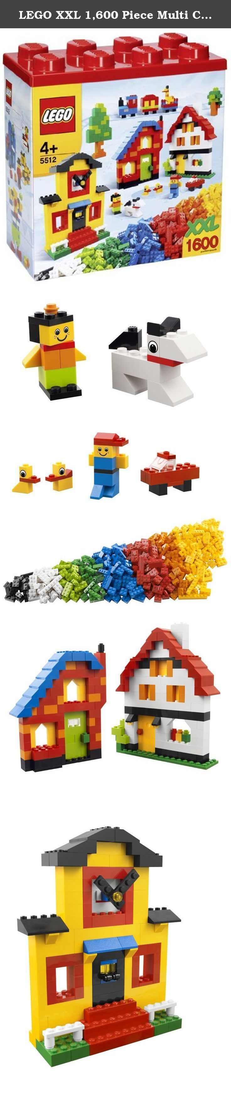 LEGO XXL 1,600 Piece Multi Colored Building Block Set Style 5512. Contains 1,600 pieces, for ages 4+.