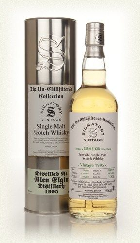 Glen Elgin 18 SV (1995, Un-Chillfiltered): A nice, rich Speysider.