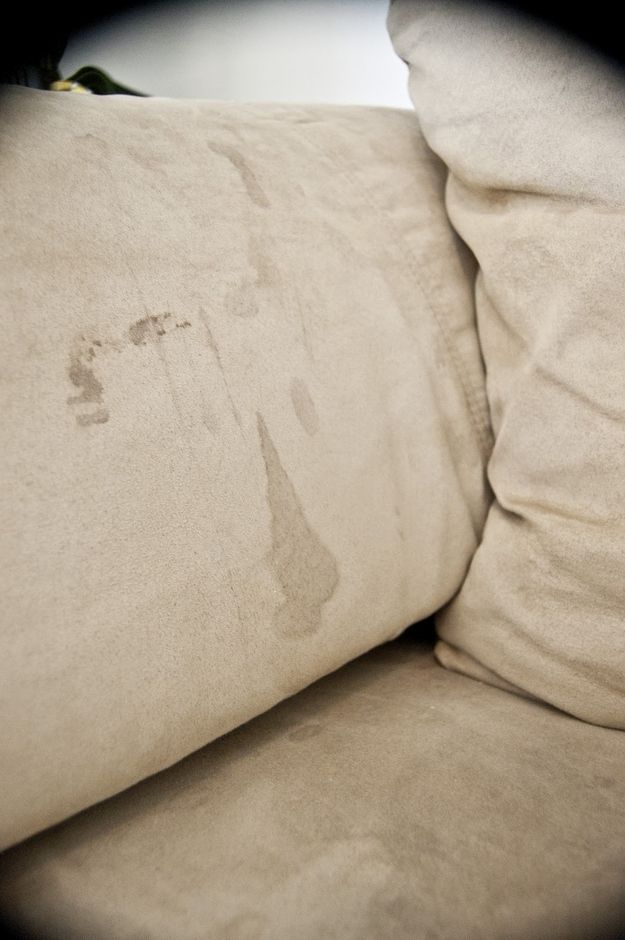 1. Get stains out of your microfiber couch with rubbing alcohol.