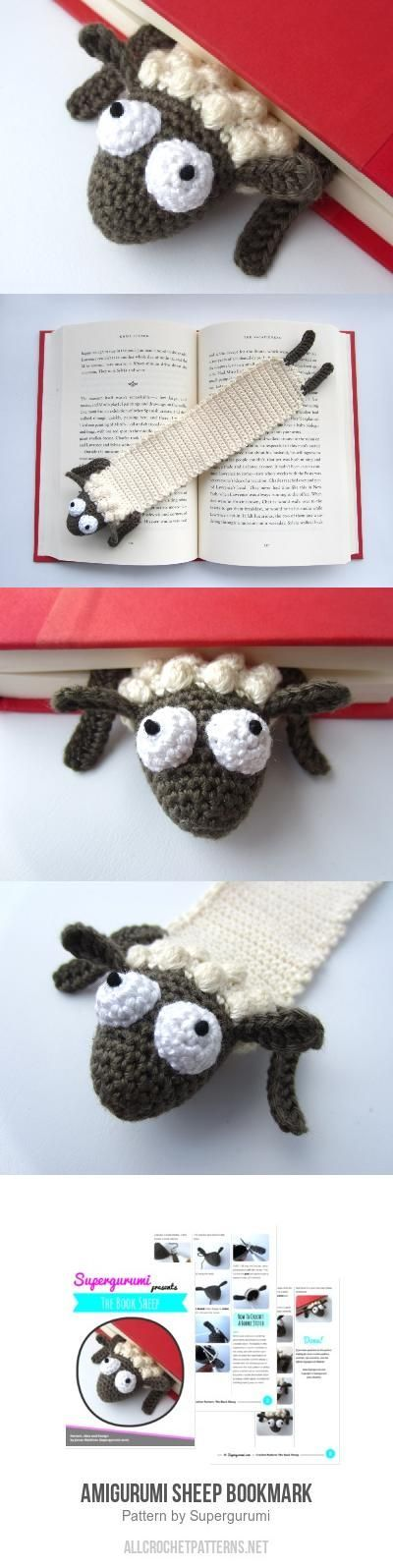 Amigurumi Sheep Bookmark crochet pattern