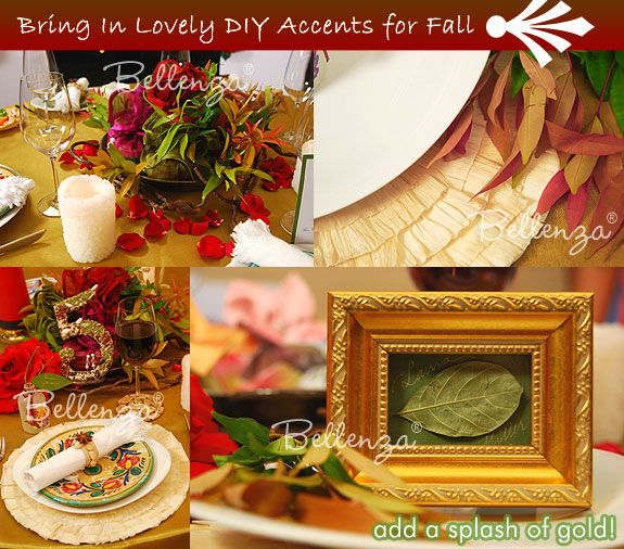 rustic autumn/fall wedding palette decorations