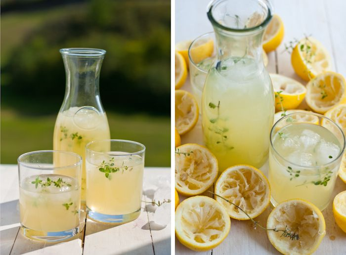 Thyme lemonade with vodka