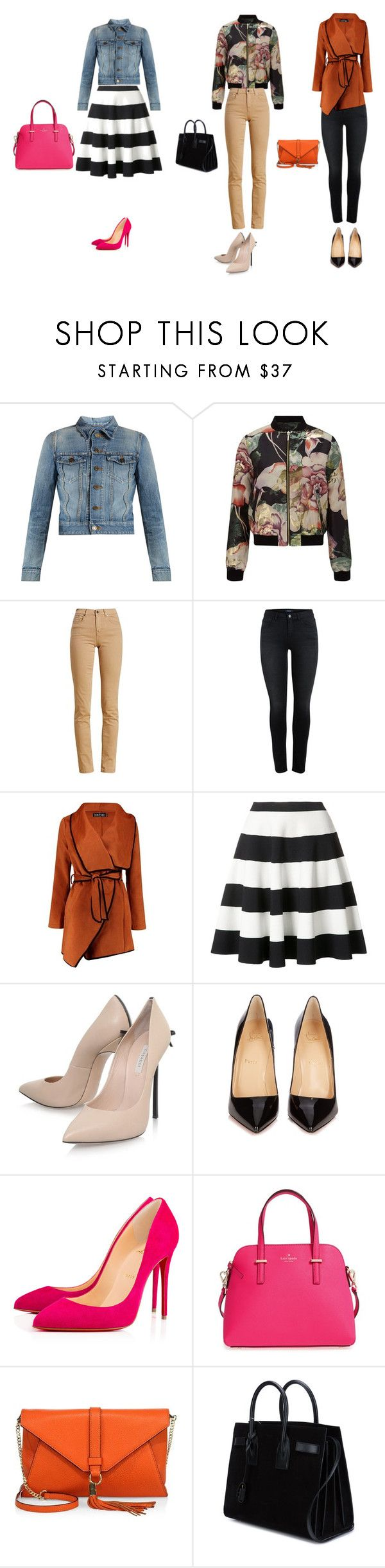 """Otoño invierno 2017"" by chio-650 on Polyvore featuring moda, Yves Saint Laurent, Miss Selfridge, Barbour, Boohoo, Akris Punto, Casadei, Christian Louboutin, Kate Spade y Milly"