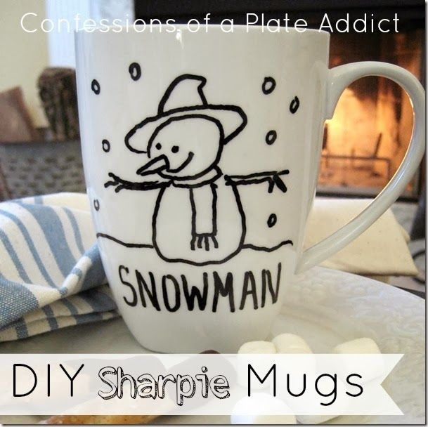 Creating a Cozy Home...DIY Sharpie Mugs - CONFESSIONS OF A PLATE ADDICT Jan 13, 2014