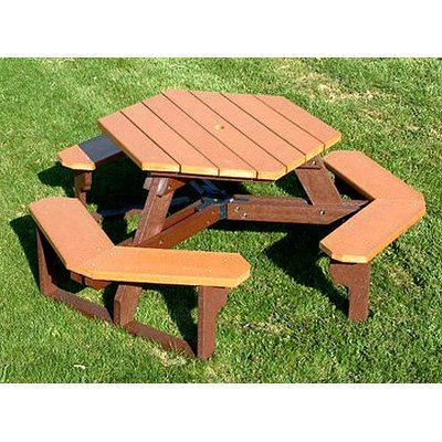 Have to have it. Polly Products Commercial Open Hexagon Picnic Table $1169.98