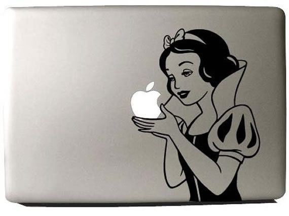 Snow White Macbook Pro Decal.