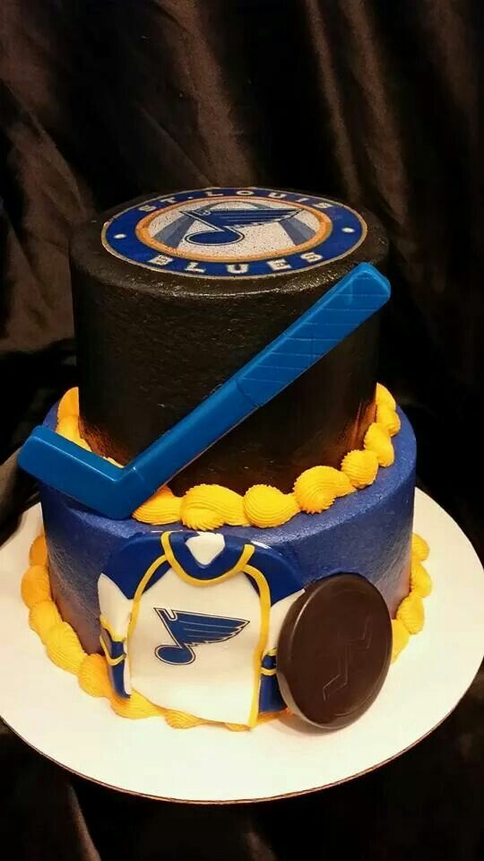 Yussssss Blue Birthday Cakes Hockey Birthday Cake Hockey Cakes