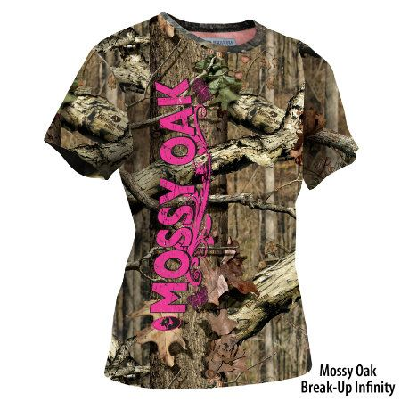 Mossy Oak Womens Camo Short-Sleeve Logo Tee - Gander Mountain need this for huntin season! Last year I didn't hav shit to wear lol