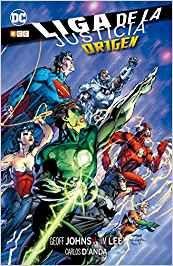 ¡Descubre el origen de los mayores héroes de la Tierra! Este volumen recopila los números 1 a 6 de la serie mensual Liga de la Justicia y reúne a los autores superestrella Geoff Johns (Green Lantern) y Jim Lee (Superman: El Hombre de Acero) para realizar el cómic más espectacular del nuevo milenio... ¡y volver a inventar el Universo DC como nunca se ha hecho! (Amazon).