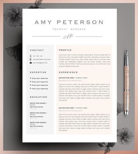Creatieve CV-sjabloon CV-Template Instant Download door CvDesignCo