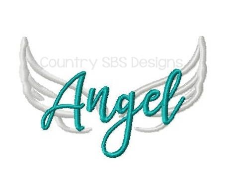 Angel with Wings Embroidery Design 4x4 INSTANT DOWNLOAD