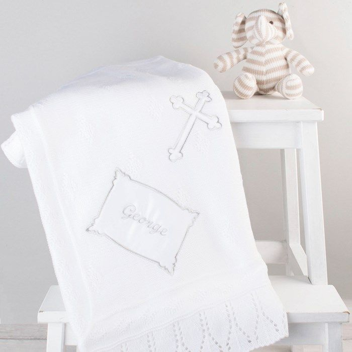 Personalised Baby's Cross Shawl | GettingPersonal.co.uk