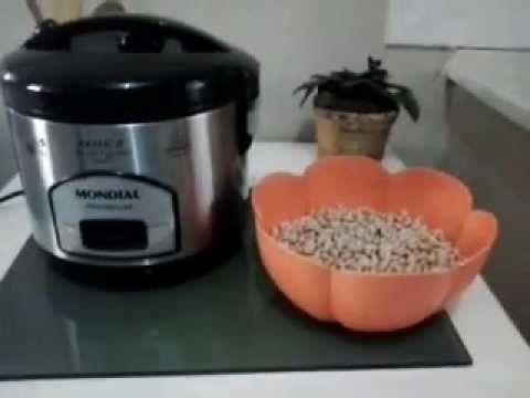 Como fazer feijão na panela elétrica de arroz.