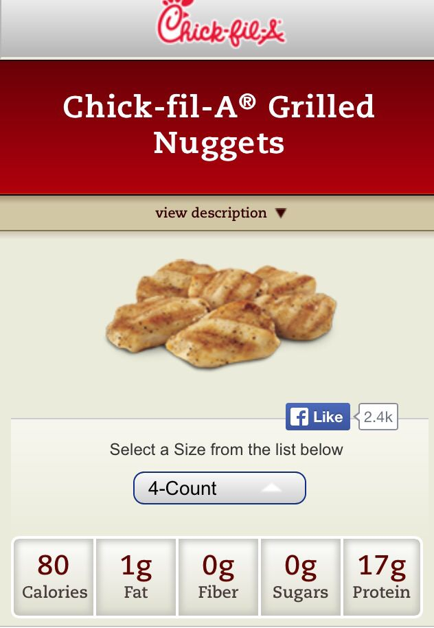 Sleevers! GRILLED nuggets!! A 4 piece is 80 calories & 17 grams of protein!!! #vsg #wls