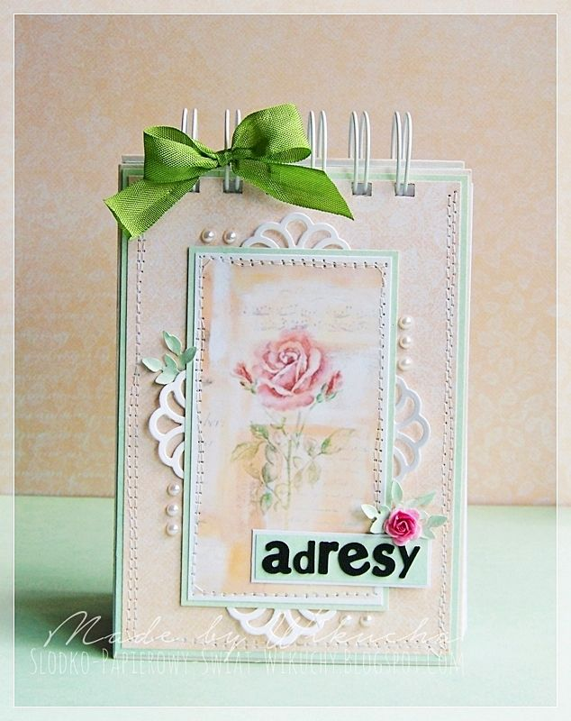 Romantic notebook on address