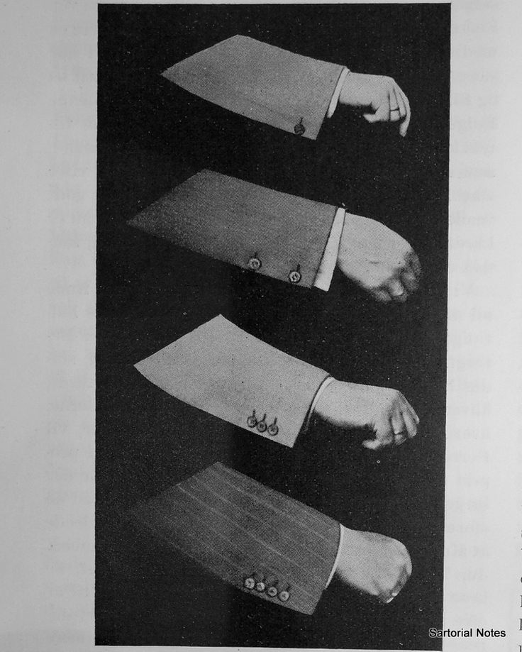 Different cuffs on bespoke suits (1937)