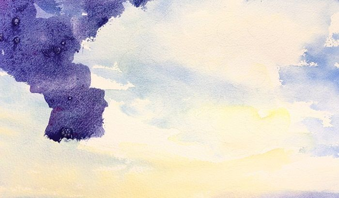 How To Make Sunset Clouds Watercolor Painting The Art 123 With