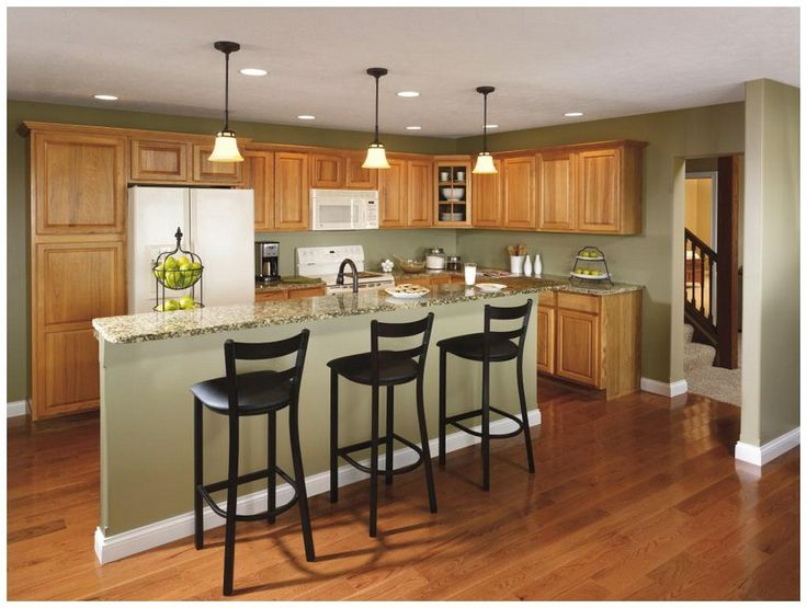 Hickory Kitchen Cabinets  kitchen  Pinterest