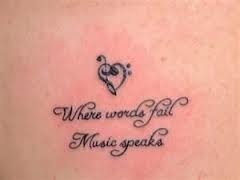 I have a thang for music so this tat speaks volumes ....