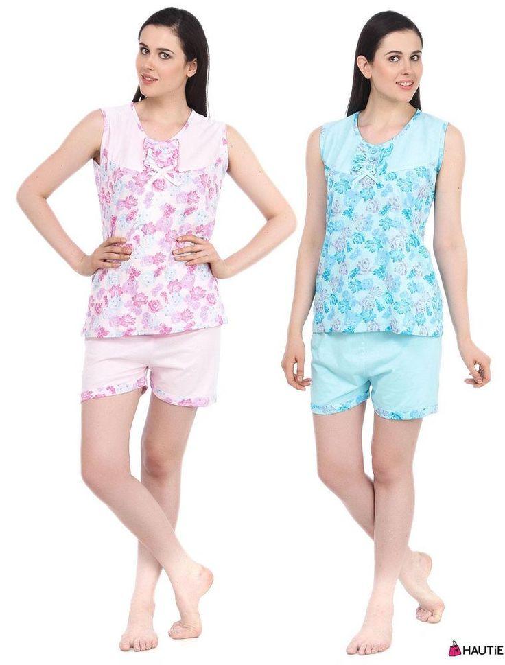 GIRLS LADIES COTTON NIGHTWEAR TOP & SHORTS SLEEPWEAR BARMUDA SET 8-12 in Clothes, Shoes & Accessories, Women's Clothing, Lingerie & Nightwear | eBay
