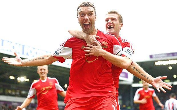 ~ Rickie Lambert celebrating his goal on Southampton against West Brom ~