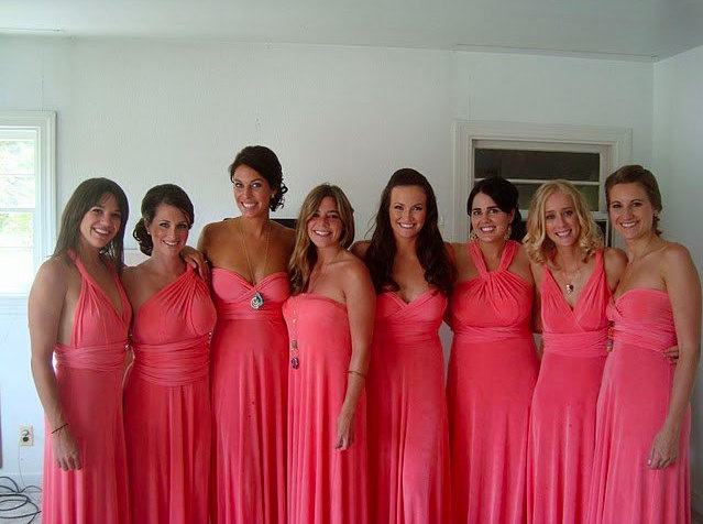 Great Idea For Wedding Party All To Match Infinity Twist Convertible Bridesmaids Wrap Dress More Than 10 Styles In One