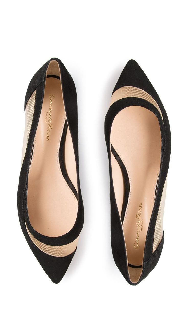 7c7de31f21f6 GIANVITO ROSSI Mesh Ballerina flats in black. i know these aren t high heels
