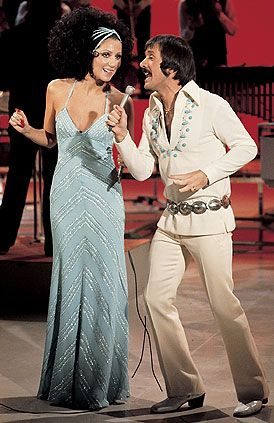 """When my husband and I were dating and I went home from college for the summer, I mailed him a photo of Sonny and Cher decorated with flowers cut from construction paper that said """"I Got You Babe"""" :-) #annheartsfashion #fashion"""